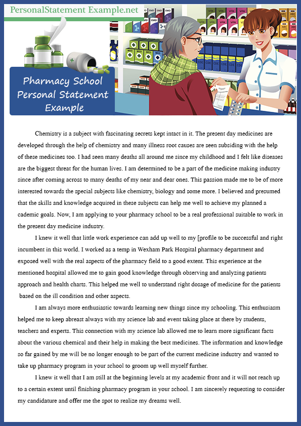pharmacy school professional personal statement sample pharmacy school personal statement online