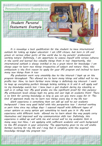 interesting student personal statement example