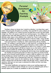 creative example of personal statement for teaching