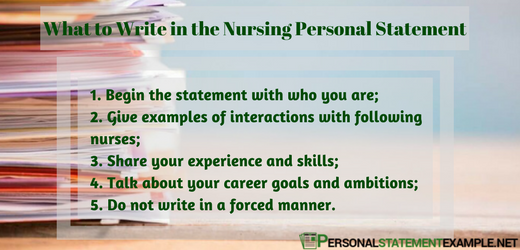 what to write in personal statement for nursing