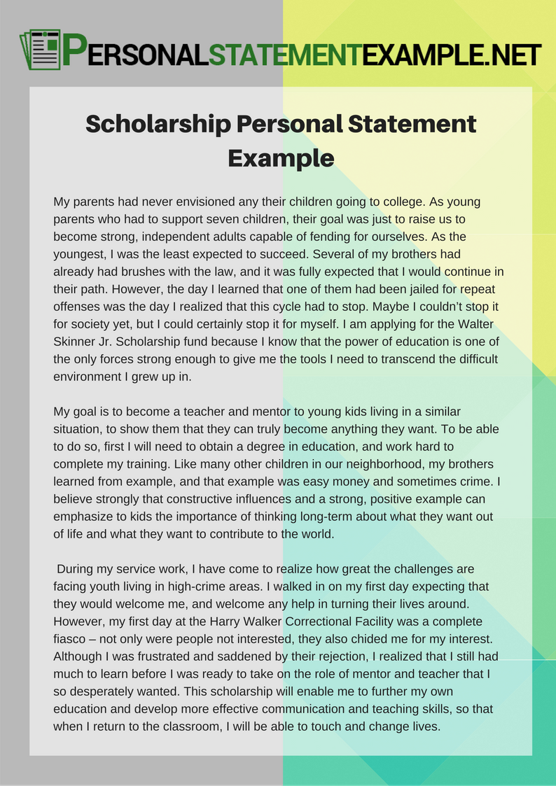 personal statement scholarship application Depending on the application, your personal statement may be a aid office open popup scholarship resource center open popup it make to the scholarship.