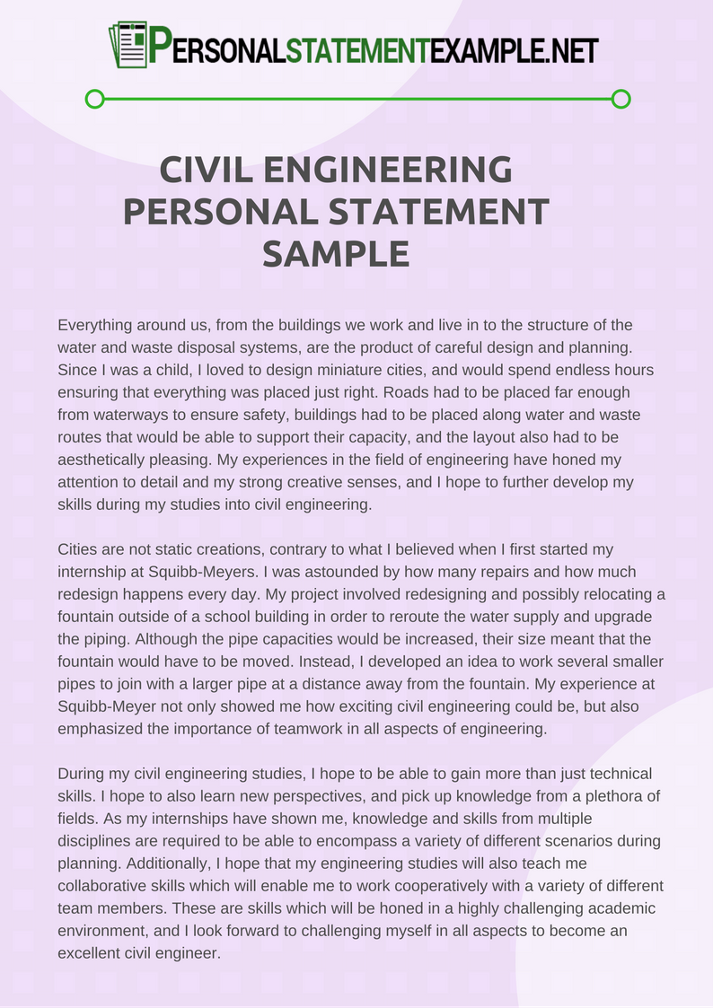 civil engineering essay Civil engineering essays why do i want to be a civil engineer until recently, i did not know the answer to this question myself i was lost when choosing a career.