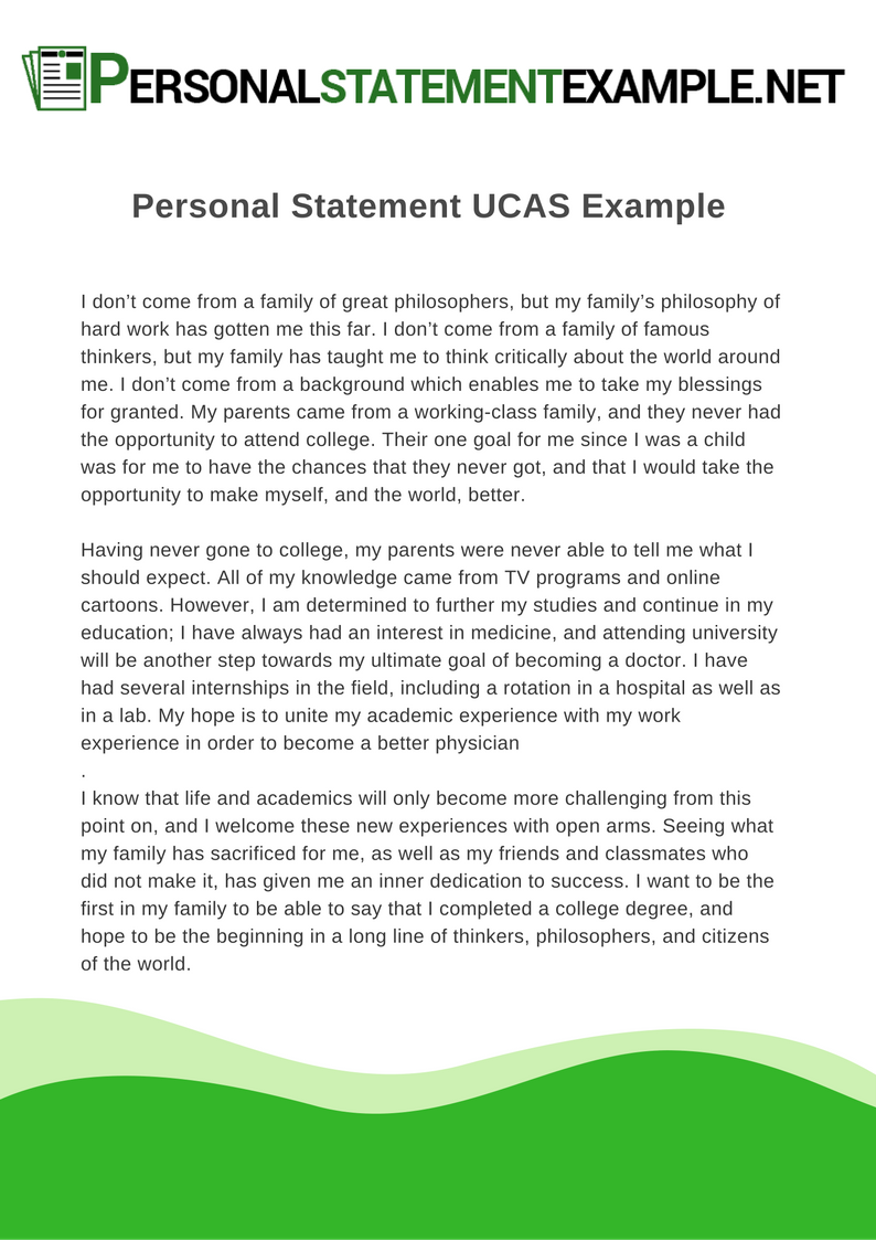 writing a personal statement for university