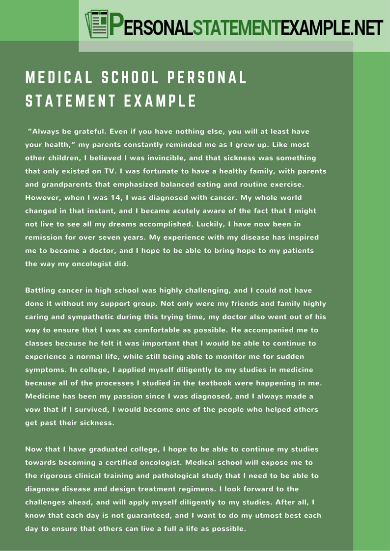example personal statement