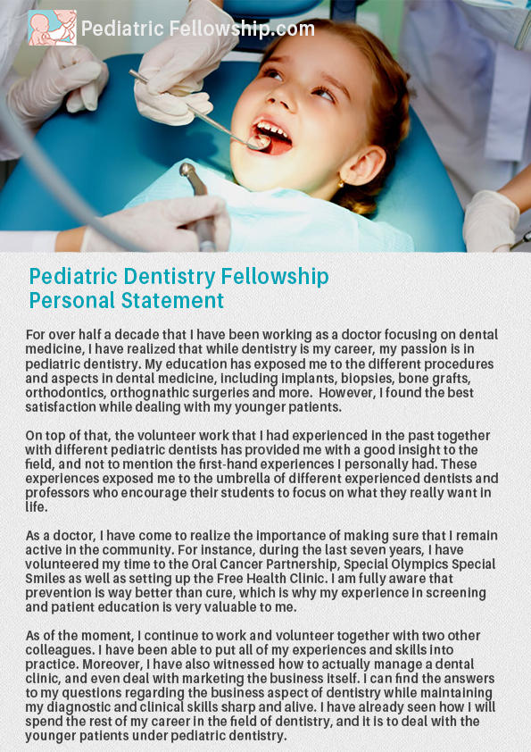 A Great Collection of Pediatrics Personal Statement Examples